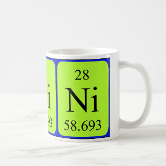 Taza del elemento 28 - níquel