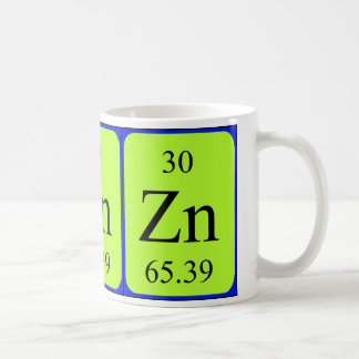 Taza del elemento 30 - cinc