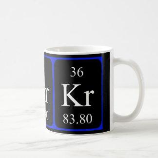 Taza del elemento 36 - criptón