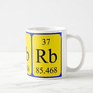 Taza del elemento 37 - rubidio