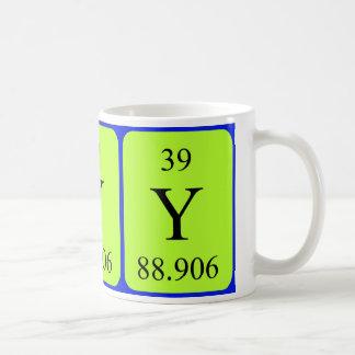 Taza del elemento 39 - itrio