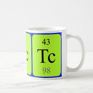 Taza del elemento 43 - tecnetio