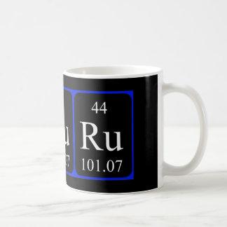 Taza del elemento 44 - rutenio