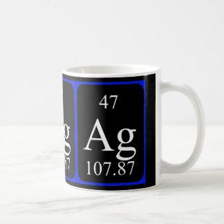 Taza del elemento 47 - plata