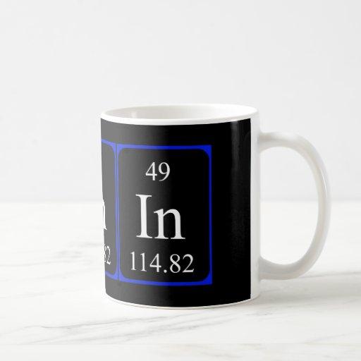 Taza del elemento 49 - indio