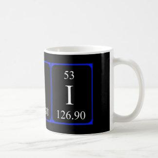 Taza del elemento 53 - yodo
