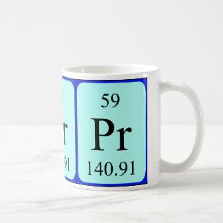 Taza del elemento 59 - praseodimio