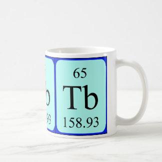 Taza del elemento 65 - terbio
