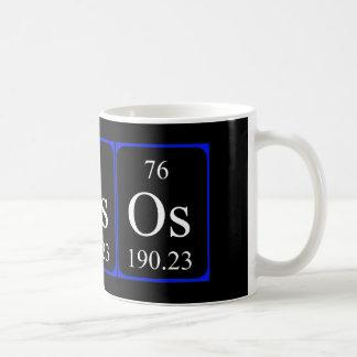 Taza del elemento 76 - osmio