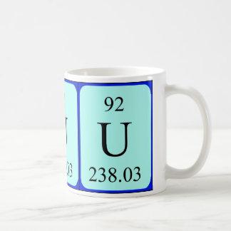 Taza del elemento 92 - uranio