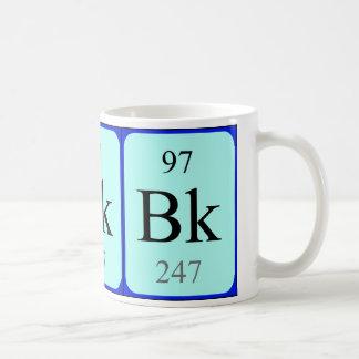 Taza del elemento 97 - berkelio