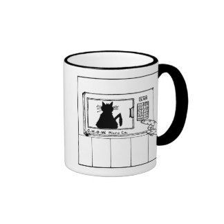 Taza del enemigo del gato - diseño de la microonda