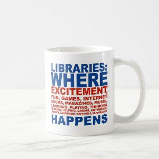 Taza del entusiasmo de las bibliotecas