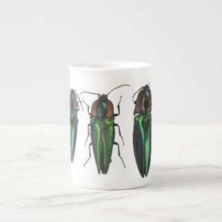 Taza del escarabajo de tecleo taza de porcelana