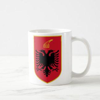 Taza del escudo de armas de Albania