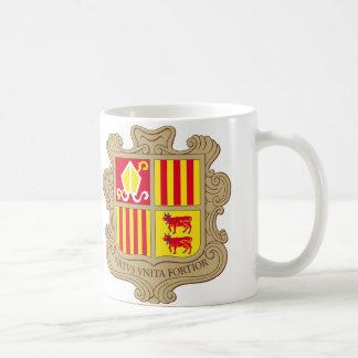 Taza del escudo de armas de Andorra
