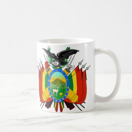 Taza del escudo de armas de Bolivia