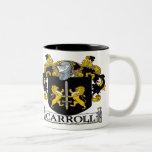 Taza del escudo de armas de Carroll
