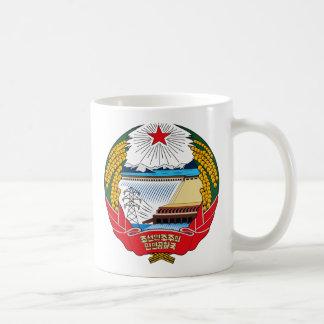 Taza del escudo de armas de Corea del Norte