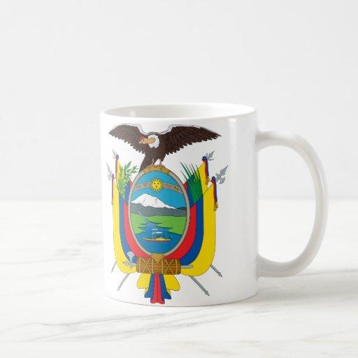 Taza del escudo de armas de Ecuador