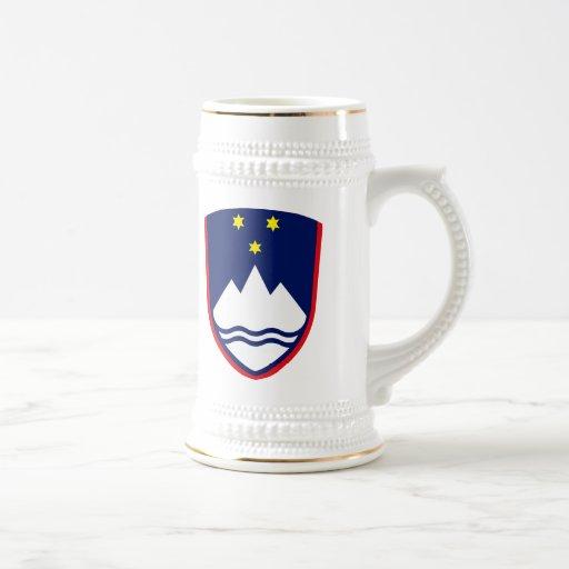 Taza del escudo de armas de Eslovenia