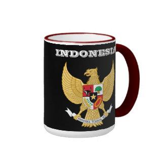 Taza del escudo de armas de Indonesia