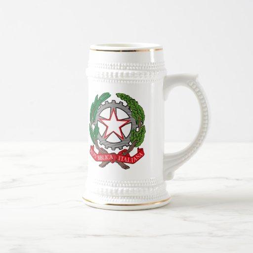 Taza del escudo de armas de Italia