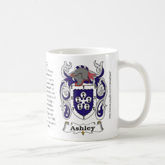 Taza del escudo de armas de la familia de Ashley