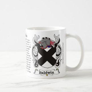 Taza del escudo de armas de la familia de Baldwin