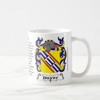 Taza del escudo de armas de la familia de Boyer