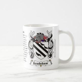Taza del escudo de armas de la familia de Bradshaw