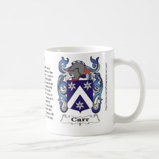 Taza del escudo de armas de la familia de Carr