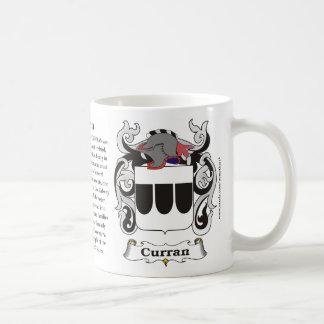 Taza del escudo de armas de la familia de Curran