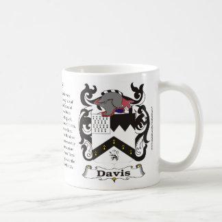Taza del escudo de armas de la familia de Davis