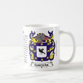 Taza del escudo de armas de la familia de García
