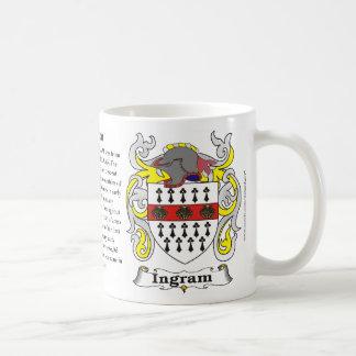 Taza del escudo de armas de la familia de Ingram