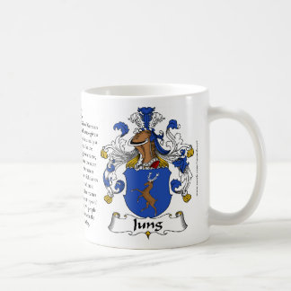 Taza del escudo de armas de la familia de Jung