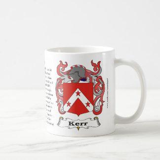 Taza del escudo de armas de la familia de Kerr