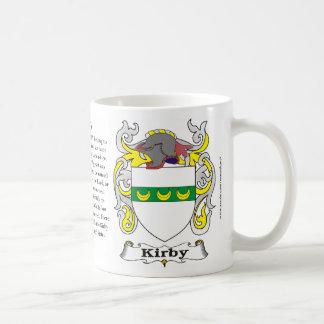 Taza del escudo de armas de la familia de Kirby