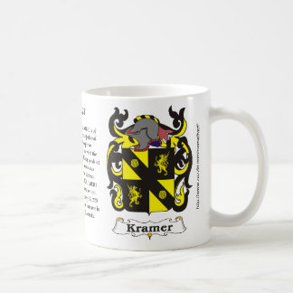 Taza del escudo de armas de la familia de Kramer