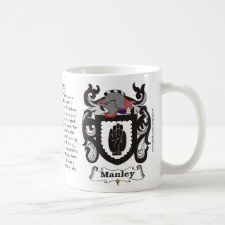 Taza del escudo de armas de la familia de Manley