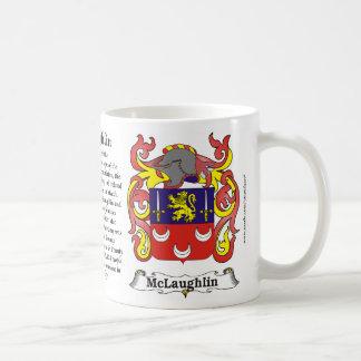 Taza del escudo de armas de la familia de McLaughl