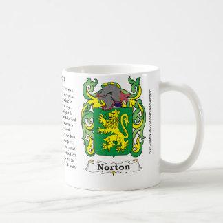 Taza del escudo de armas de la familia de Norton