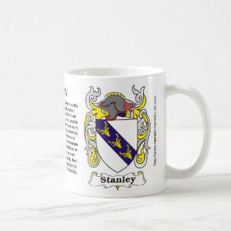 Taza del escudo de armas de la familia de Stanley