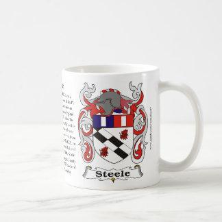 Taza del escudo de armas de la familia de Steele