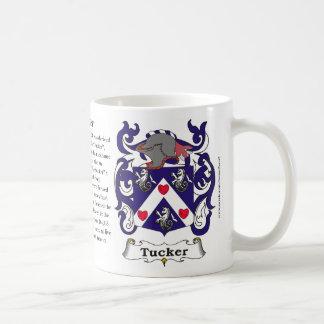 Taza del escudo de armas de la familia de Tucker