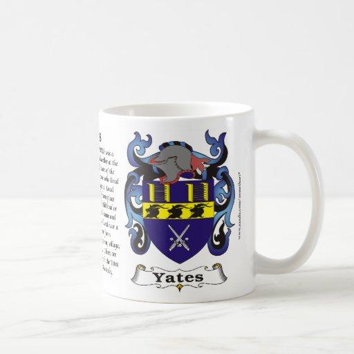 Taza del escudo de armas de la familia de Yates