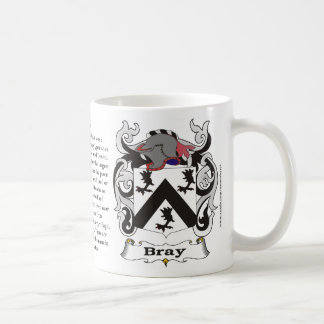 Taza del escudo de armas de la familia del rebuzno