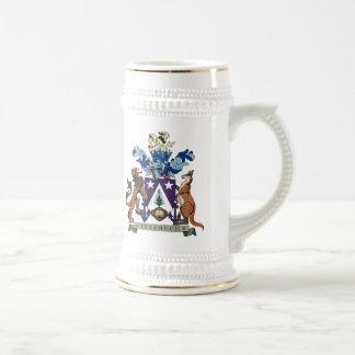 Taza del escudo de armas de la isla de Norfolk