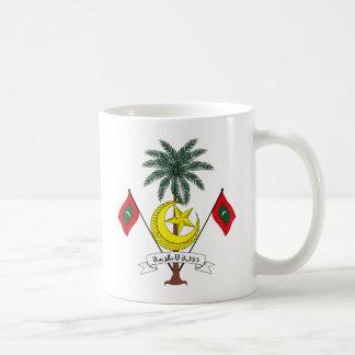 Taza del escudo de armas de Maldivas